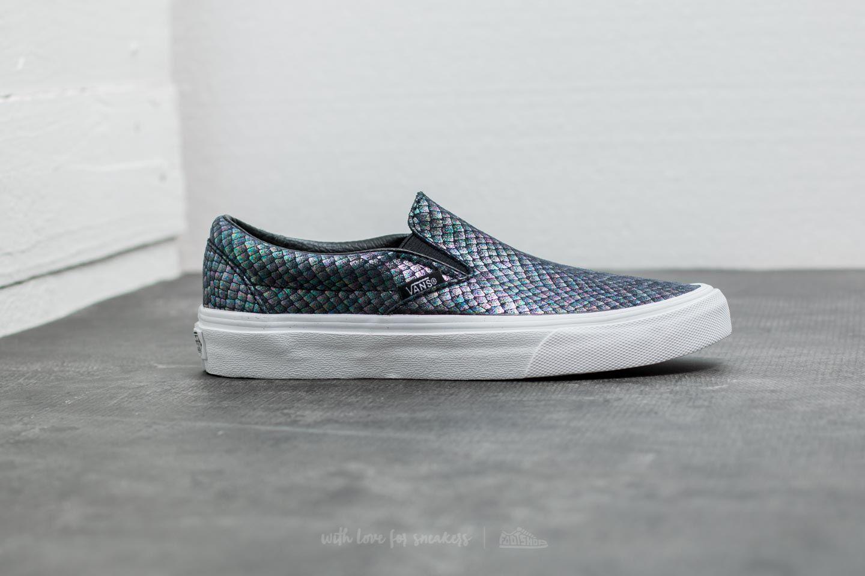 Vans Classic Slip On (Metallic Snake) Silver True White | Footshop