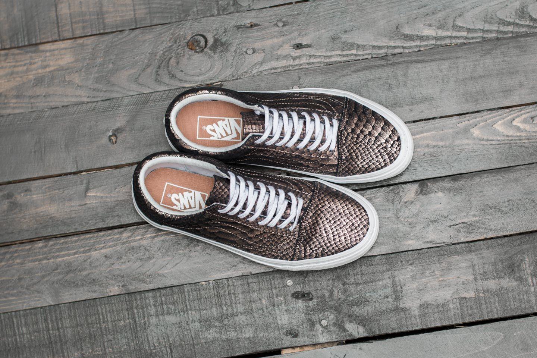 Vans Old Skool (Metallic Snake) Rose Gold True White | Footshop