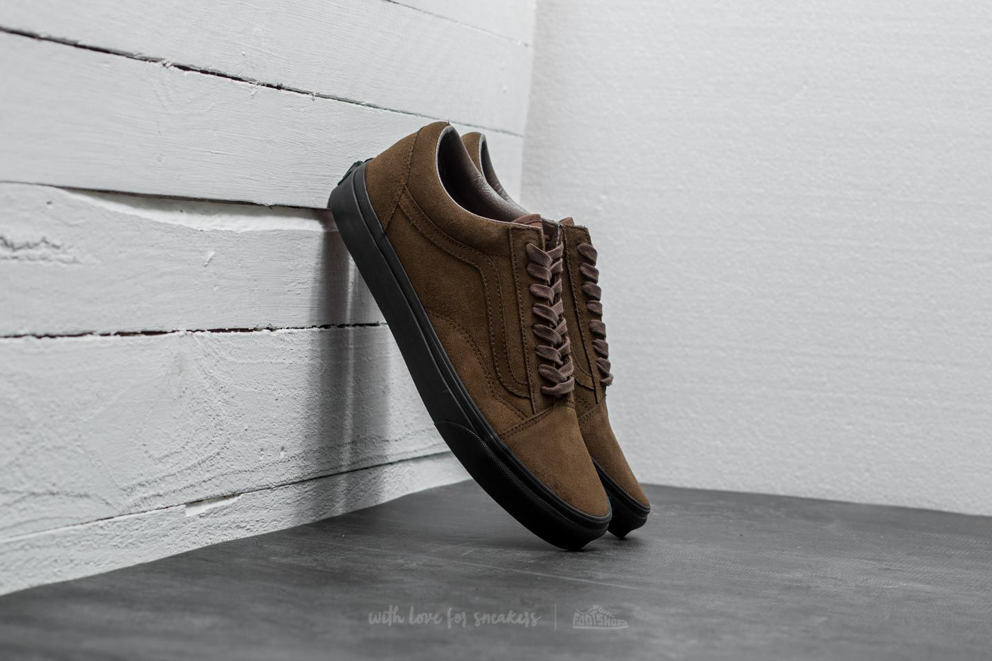 Vans Old Skool (Suede) Teak Black | Footshop