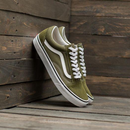 Vans – Old Skool HerrenDamen Low top Sneaker Winter MossTrue White