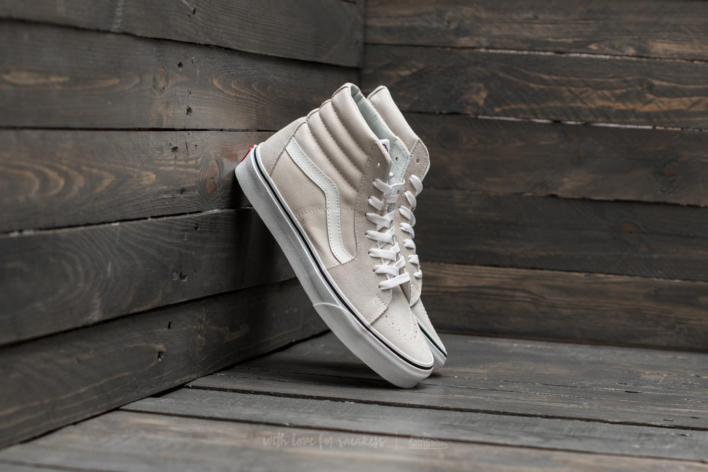 Women's shoes Vans Sk8-Hi Birch/ True White