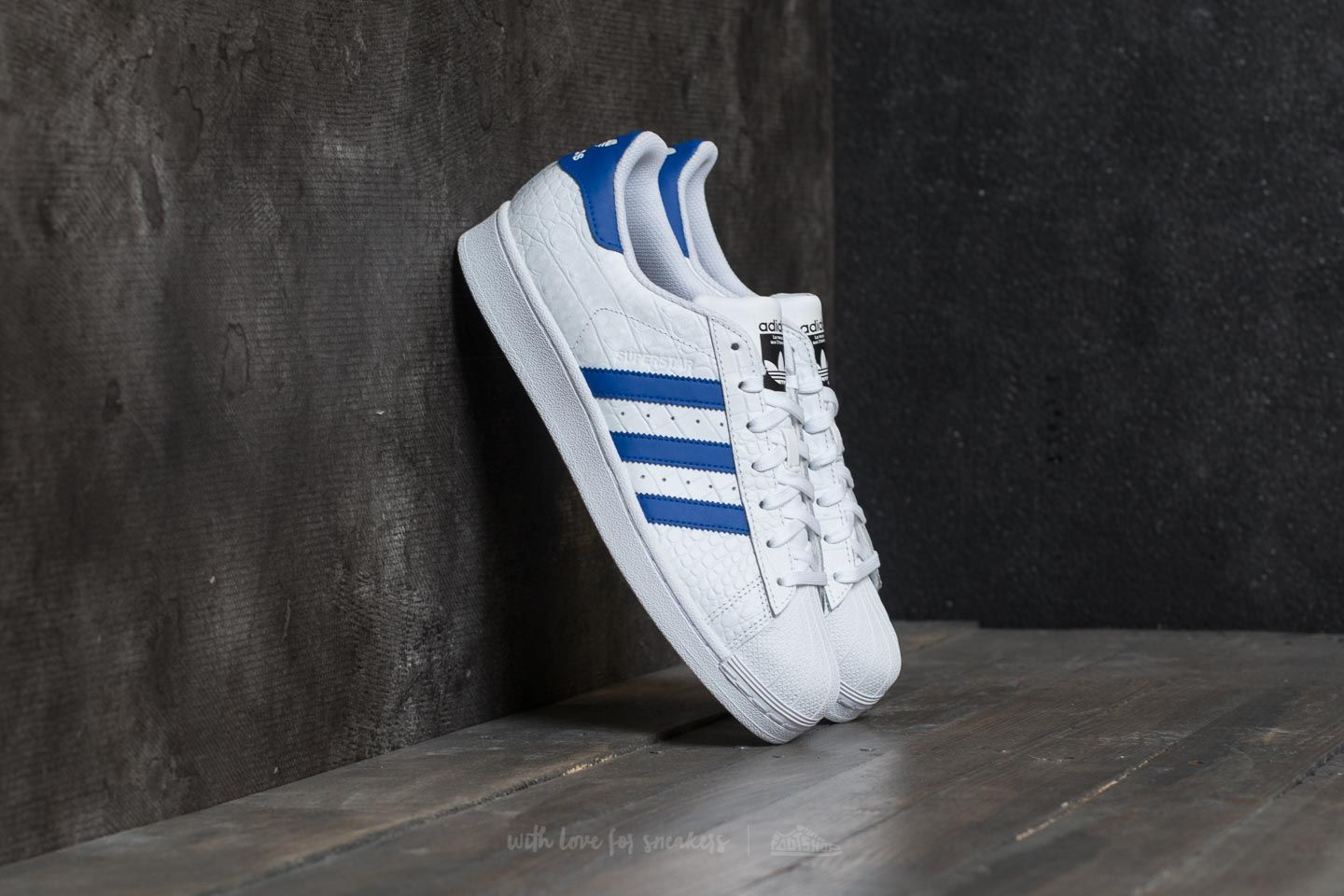 White Footwear Bold BlueFootshop Adidas Superstar 5jLqA34R