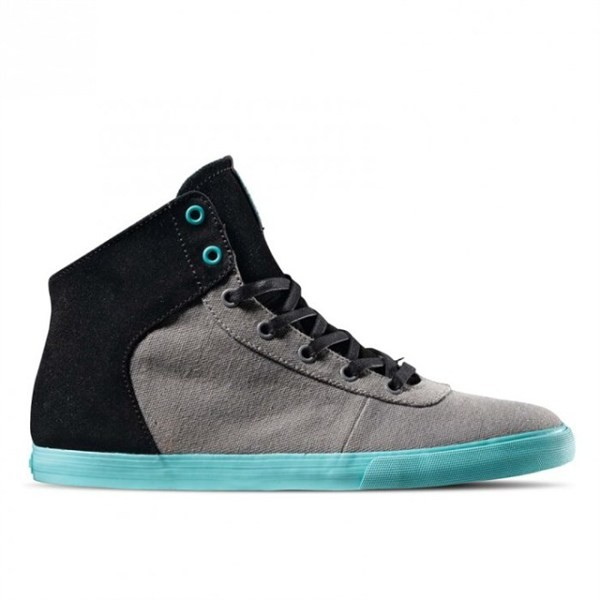 d5c493e0e241 Supra Woman Cuttler Grey canvas Black Suede