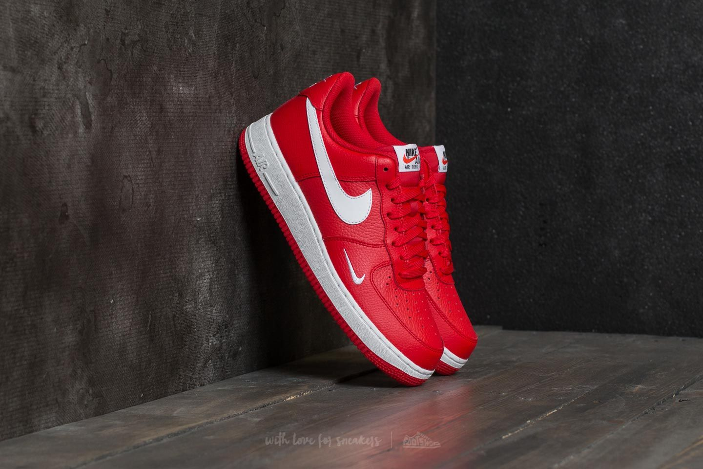 31c1192a6b1d Nike Air Force 1 University Red  White-White