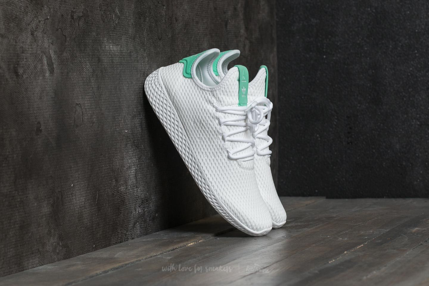 5475b856075fc adidas Pharrell Williams PW Tennis HU Ftw White  Ftw White  Green ...