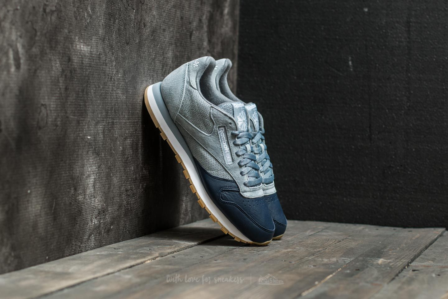9619a23f186 Reebok Classic Leather Lazy Sunday Meteor Grey  Collegiate Navy ...