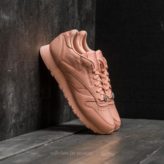 888b932bf7f32f Reebok Classic Leather L Grit-Peach Twist  Sleek Met