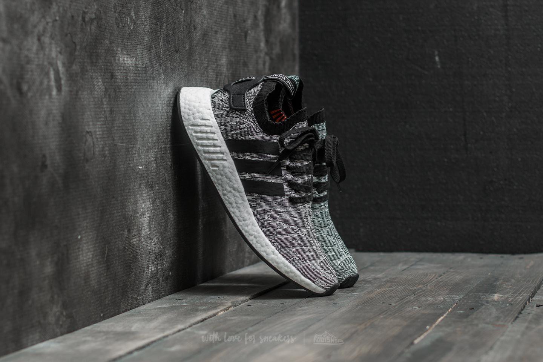 15c379636 adidas NMD R2 Primeknit Grey  Core Black  Footwear White