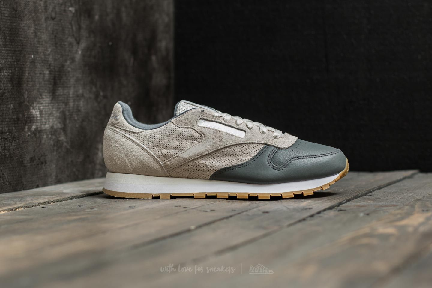 Leather White Reebok GumFootshop Ls Chalk Alloy Classic jLqpGVSzUM