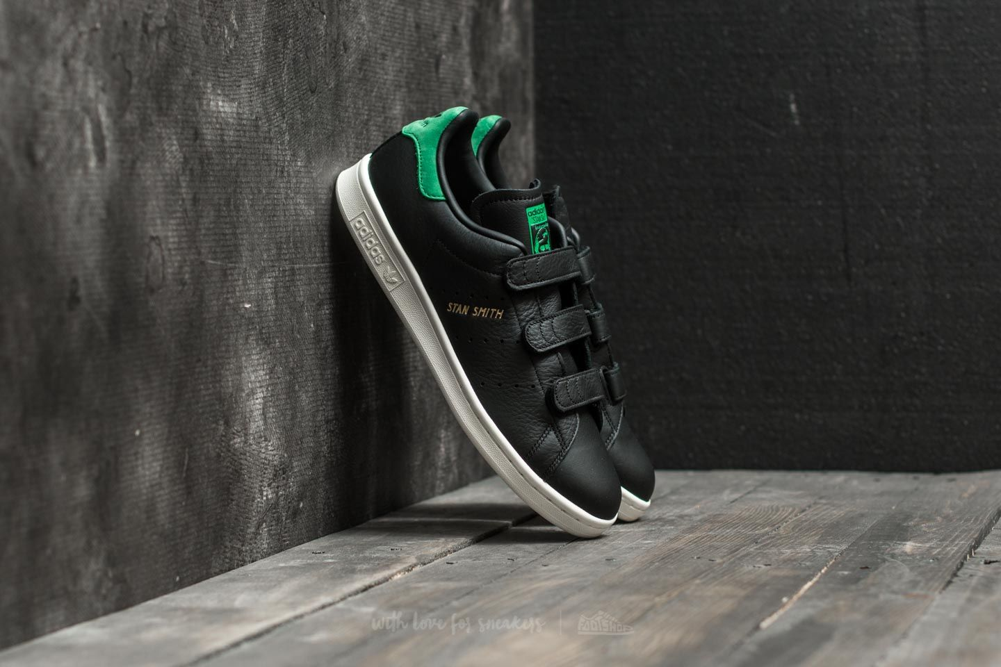 wholesale dealer cbb05 24138 adidas Stan Smith CF Core Black/ Core Black/ Green | Footshop