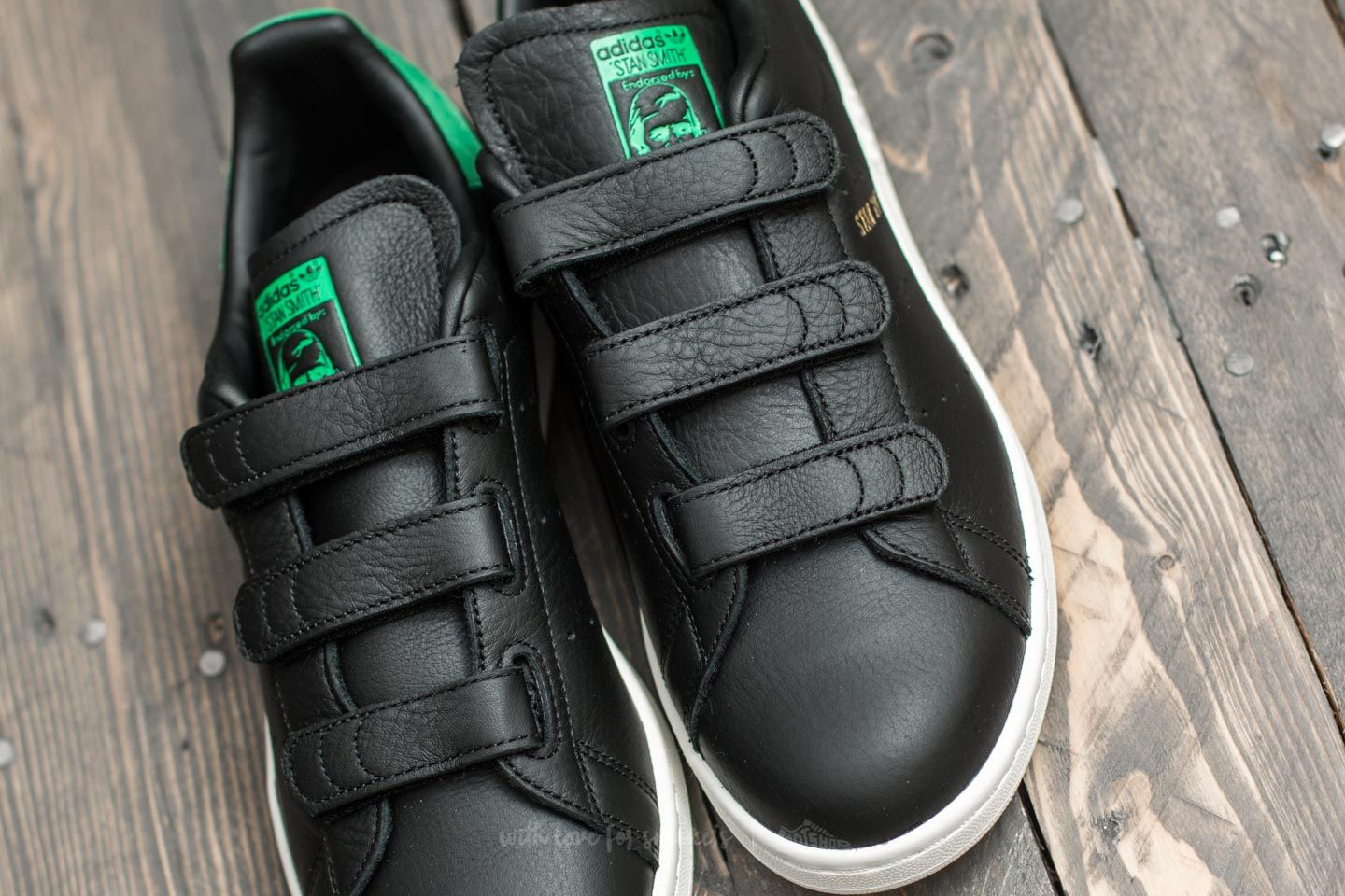 47cff114c73a0 In stock adidas Stan Smith CF Core Black Core Black Green at a great price  ...