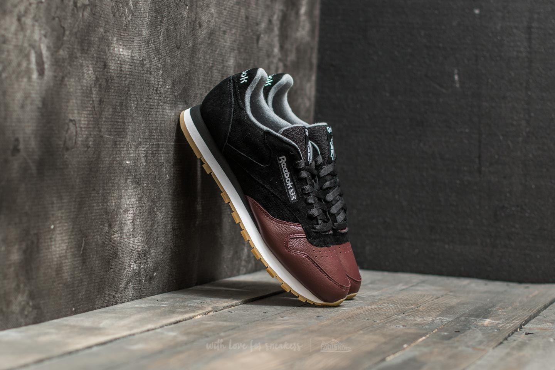 c96e3d40a60 Reebok Classic Leather LS Black  Burnt Sienna  Ash Grey