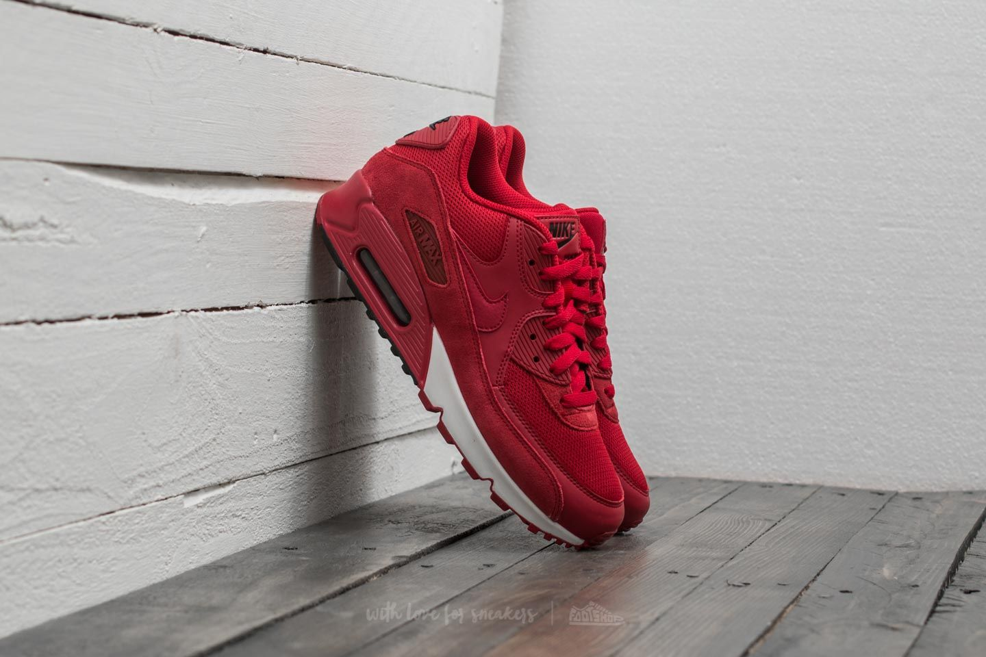 Nike Air Max 1 Leather Premium Men's Shoes Gym RedBlack