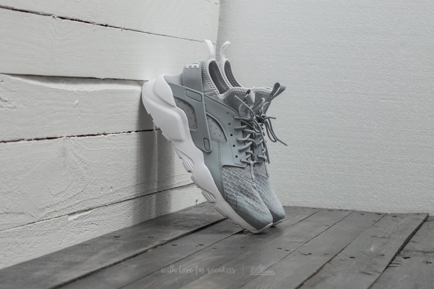 e8ec61fb30b Nike Air Huarache Run Ultra Wolf Grey  Pale Grey-White
