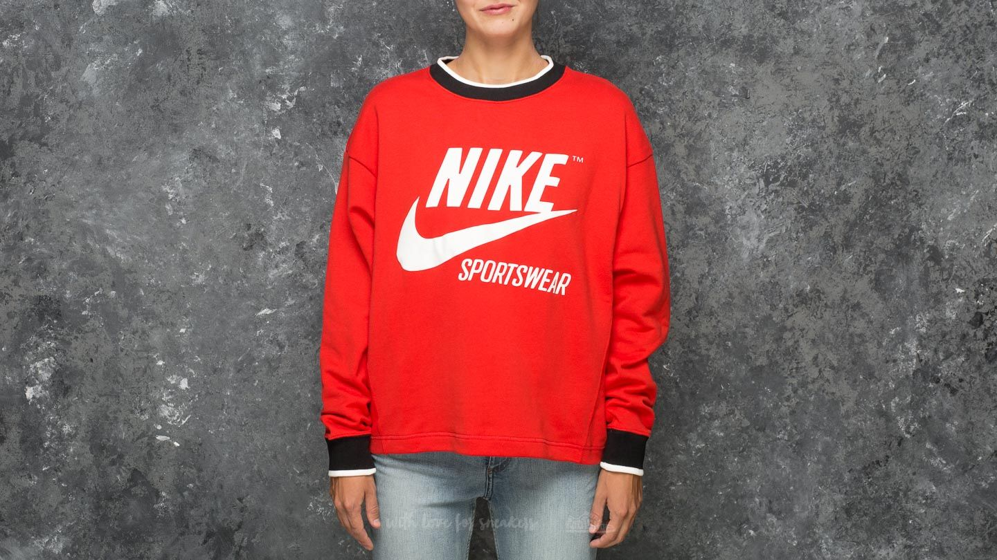 515466895 Nike Sportswear Archive Crew Rush Red | Footshop
