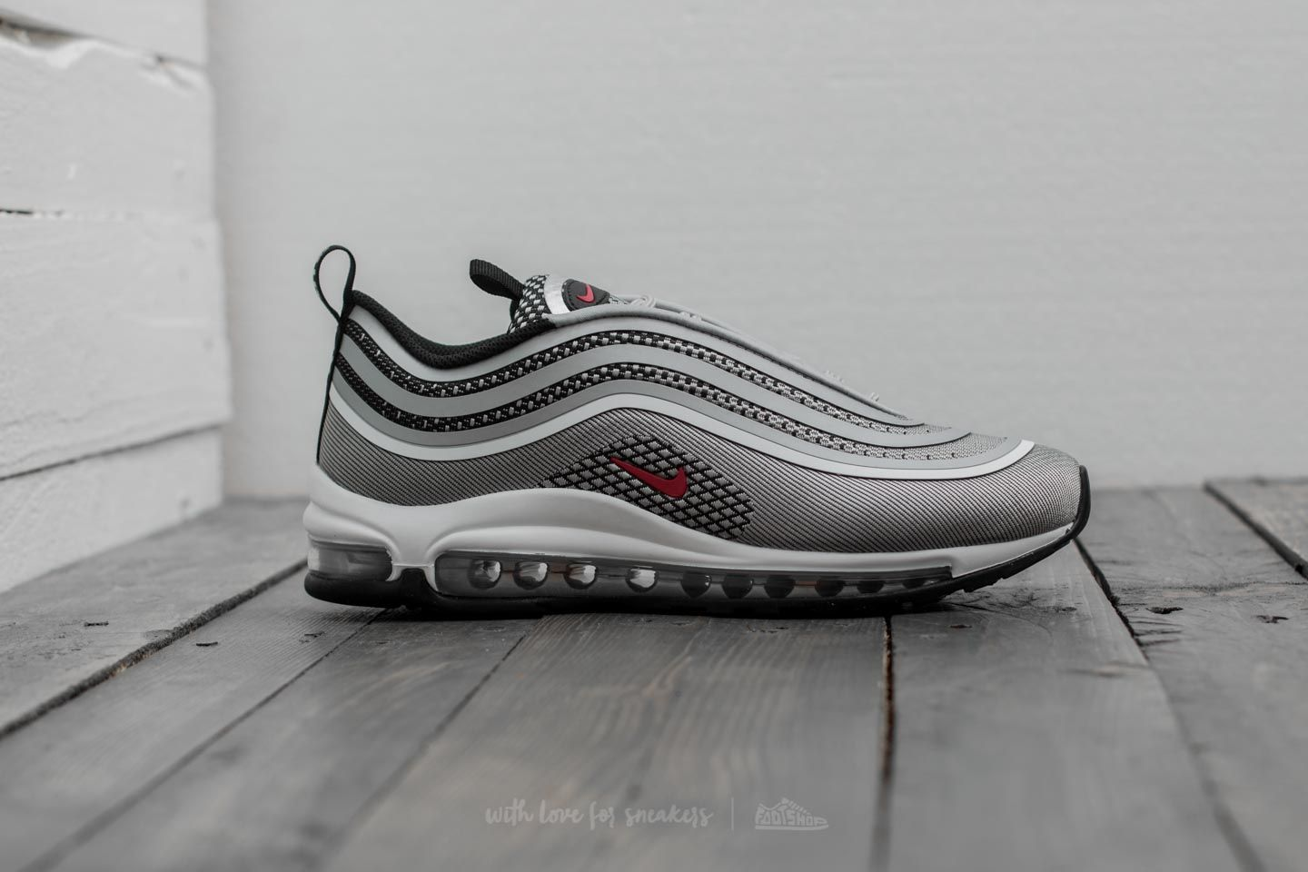 Nike Air Max 97 Ultra 17 (GS) Metallic Silver Varsity Red