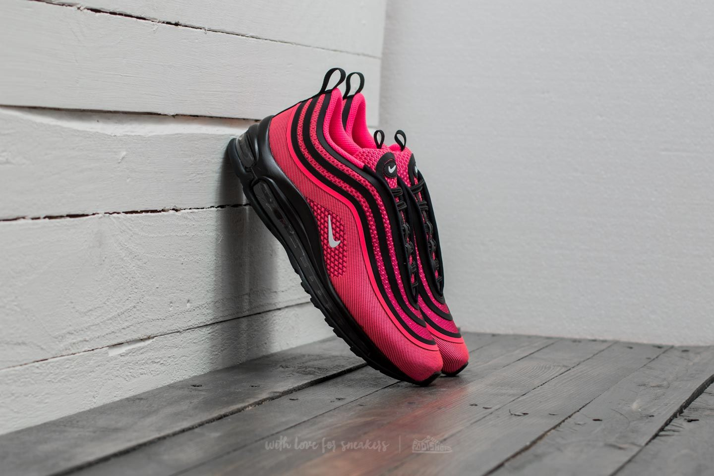 af0db94d7fb72 Nike Air Max 97 Ultra 17 (GS) Black  Racer Pink-White