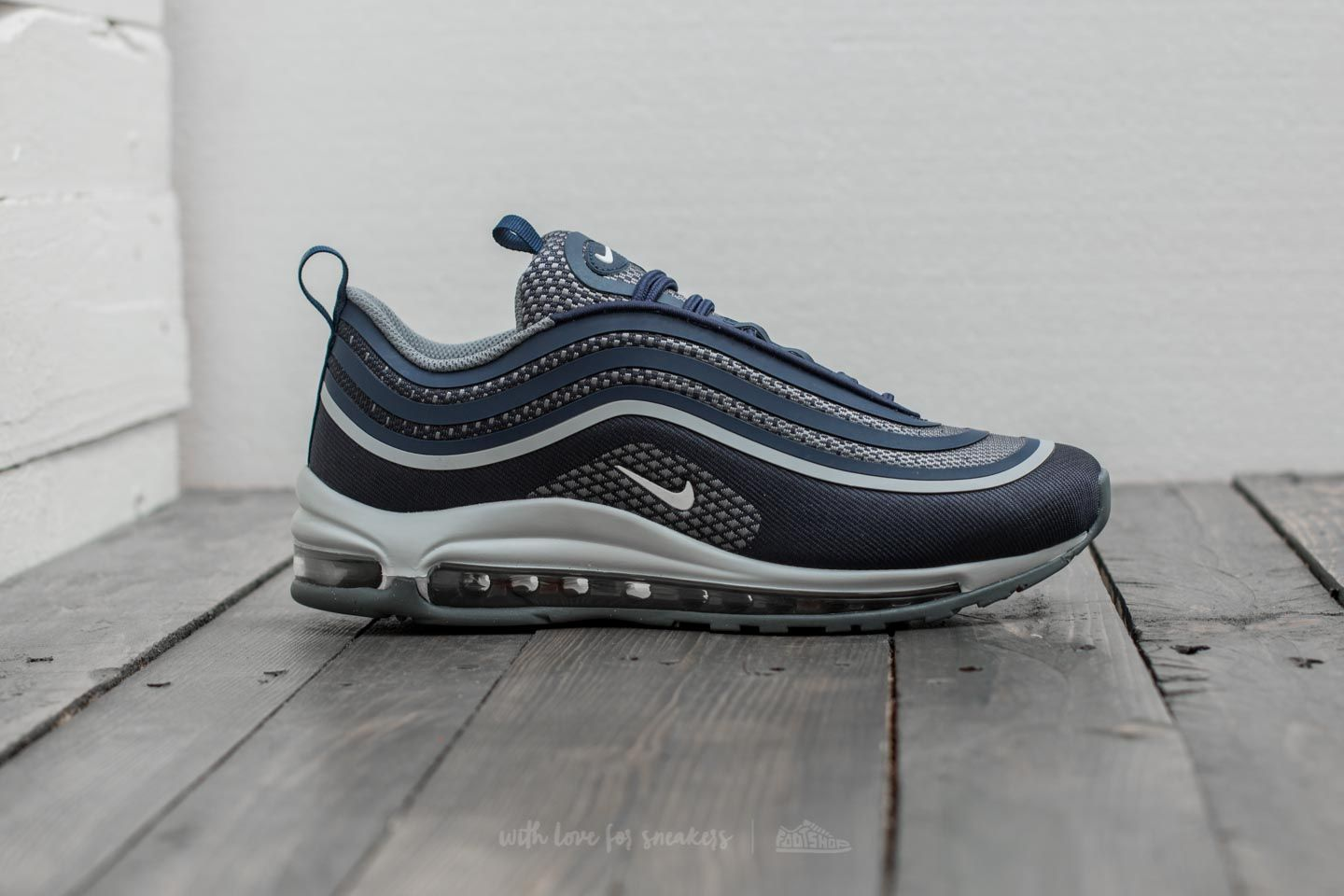 Nike Air Max 97 Ultra 17 (GS) Midnight Navy White Cool Grey | Footshop