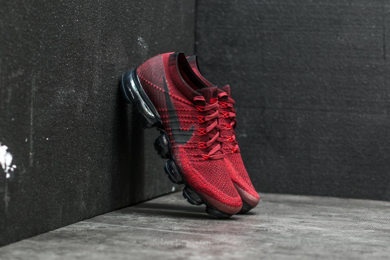 Nike Air Wapormax Flyknit Dark Team Red  Black  264b4bf7f