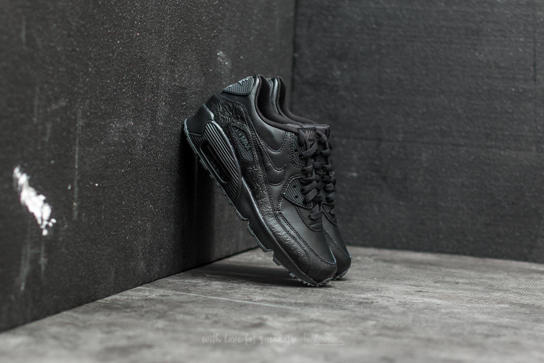 Nike Air Max 90 Leather SE GG Black Black Dark Grey   Footshop