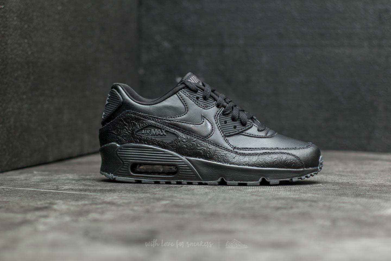 Nike Air Max 90 Leather SE GG Black Black Dark Grey | Footshop