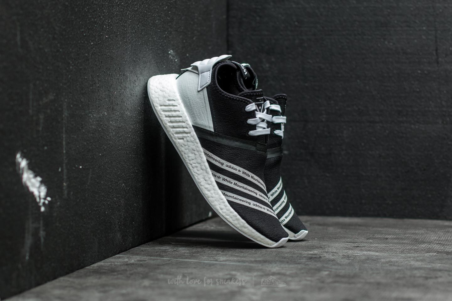 adidas x White Mountaineering NMD R2 Primeknit. Core Black  Ftw White 24a27f01a