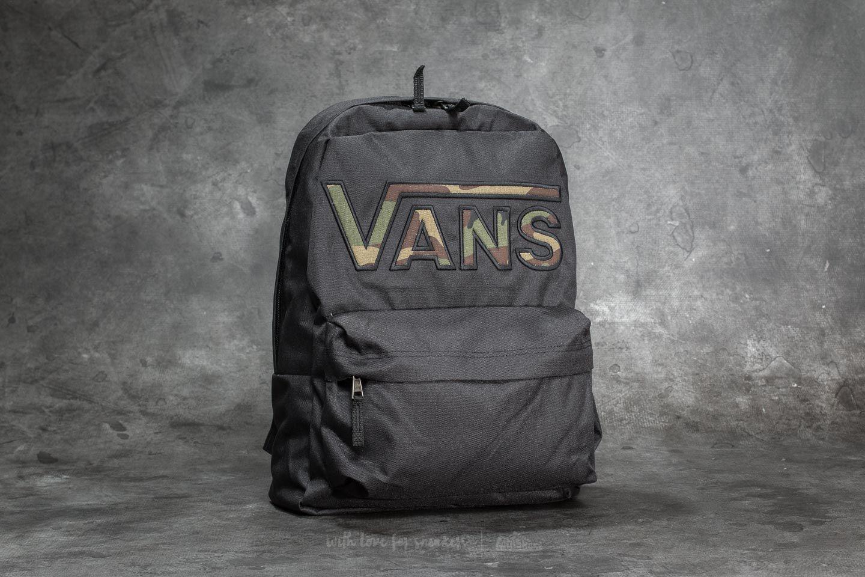 Vans Realm Flying V Backpack Black Camo   Footshop