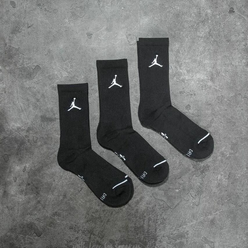 Jordan Everyday Max 3PR Crew Socks Black/ Black/ Black EUR 34-38