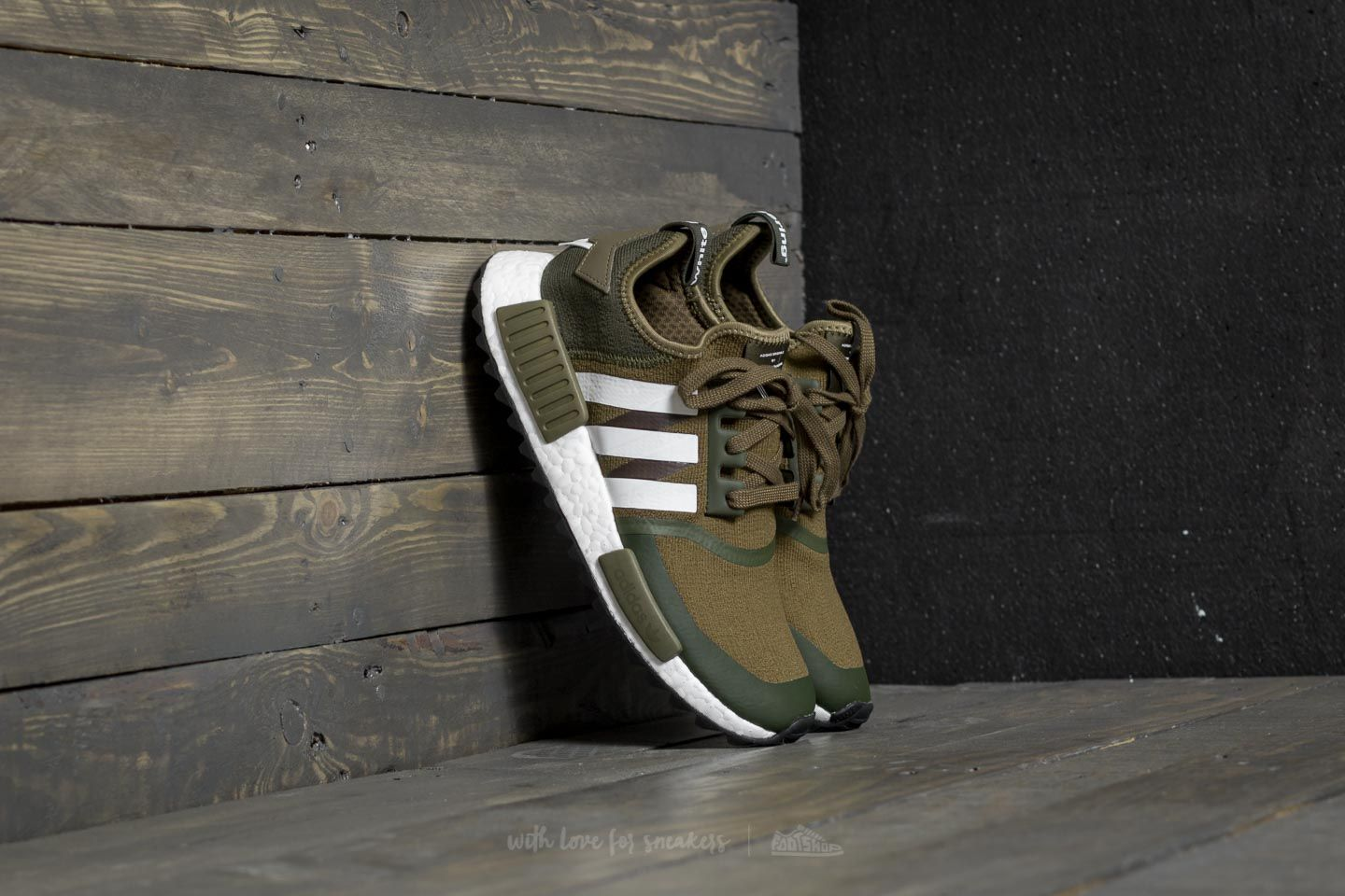 adidas x White Mountaineering NMD Trail Primeknit Trace Olive  Ftw White 392f92b169