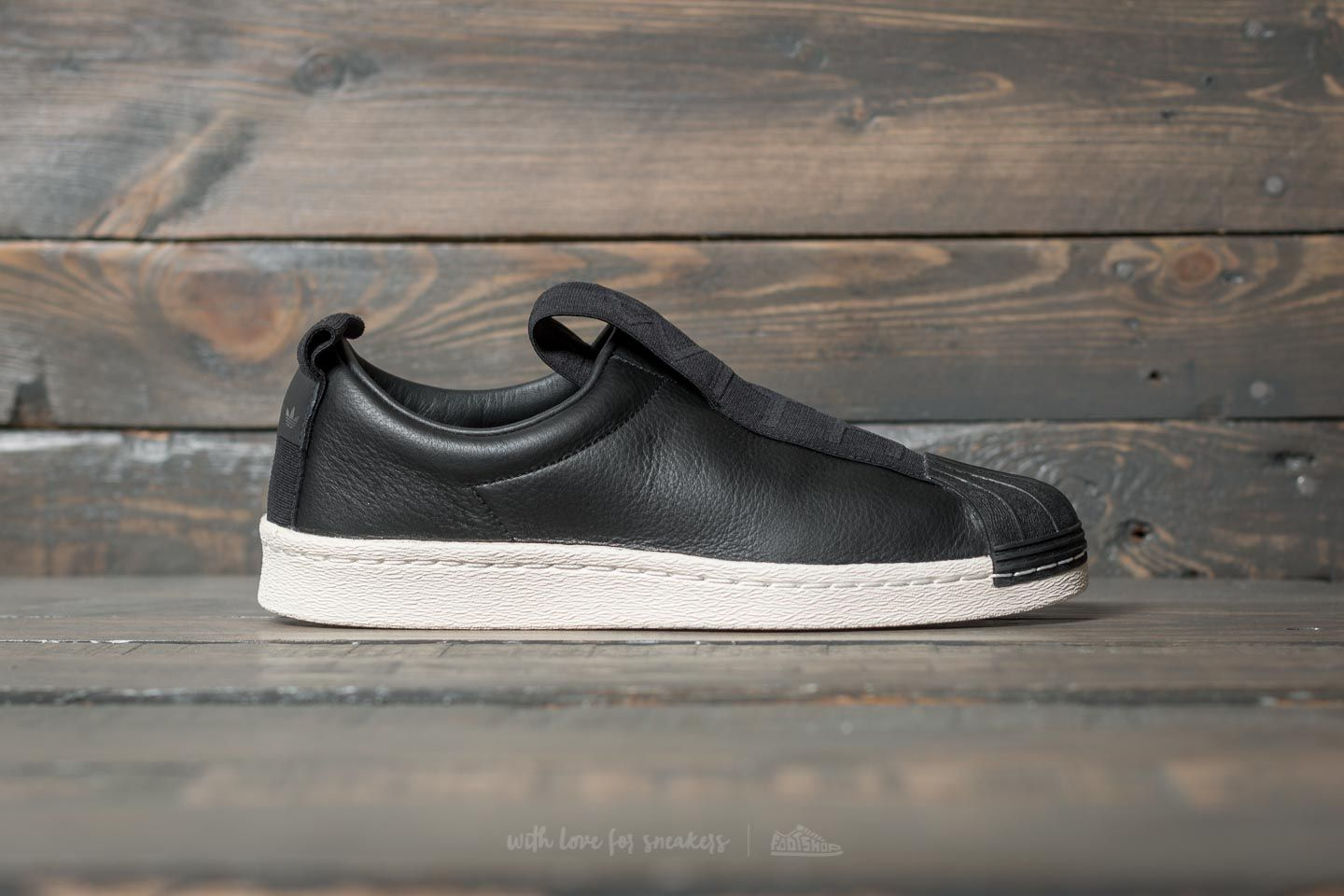 finest selection 6e306 fbc02 adidas Superstar Brand With 3 Stripes Slip On W Core Black  Core Black  Off