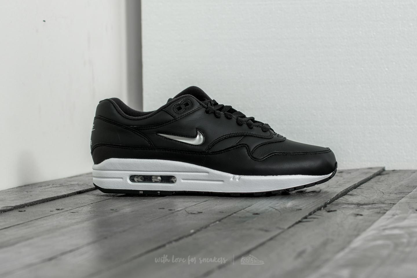 Nike Air Max 1 Premium SC Black Metallic Silver White | Footshop