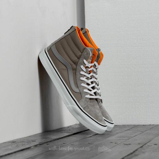 Vans Sk8 Hi Slim Zip (Boom Boom)Silver Sage True White