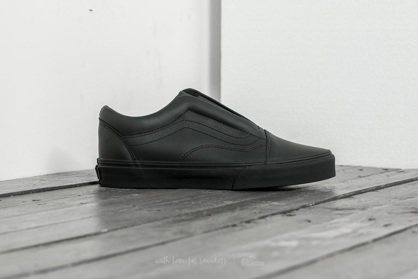 Vans Old Skool Laceles (Leather) Black at a great price 52 € buy at 1bbaab7aff2a