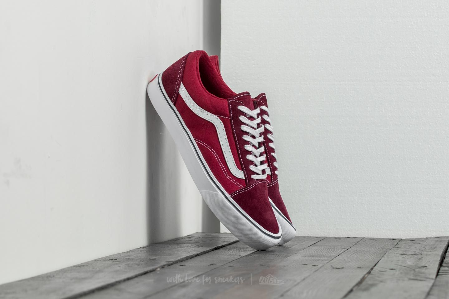 2fa556b6d6c580 Vans Old Skool Lite (Throwback) Port Royale  Tibetan Red
