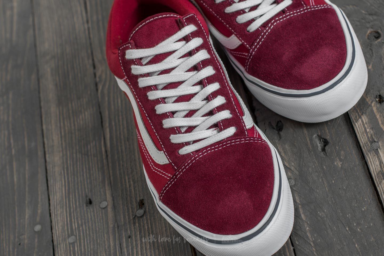 Vans Old Skool – HerrenDamen Throwback Old Skool Lite Port RoyaleTibetan Red