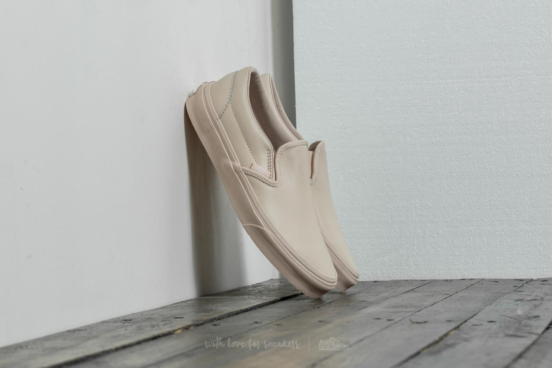 Vans Classic Slip/On D (Leather) Whisper Pink/ Mono