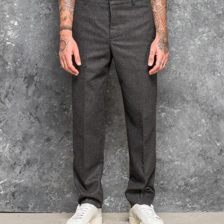 WOOD WOOD Temple Trousers Grey Melange, Gray