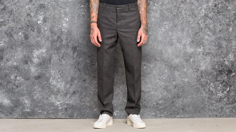Džíny a kalhoty WOOD WOOD Temple Trousers Grey Melange