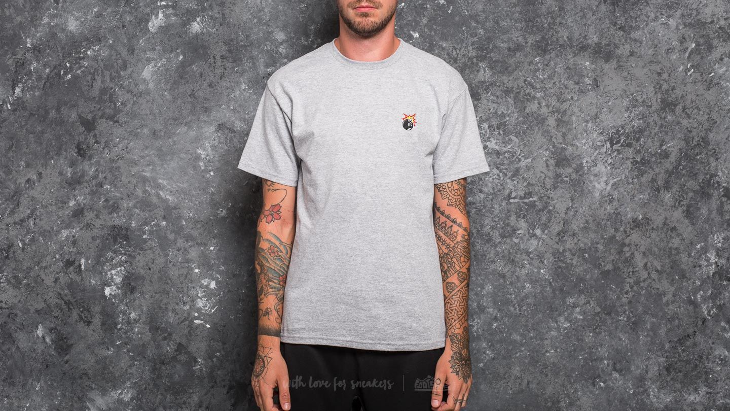 The Hundreds Crest Adam Tee Athletic Heather