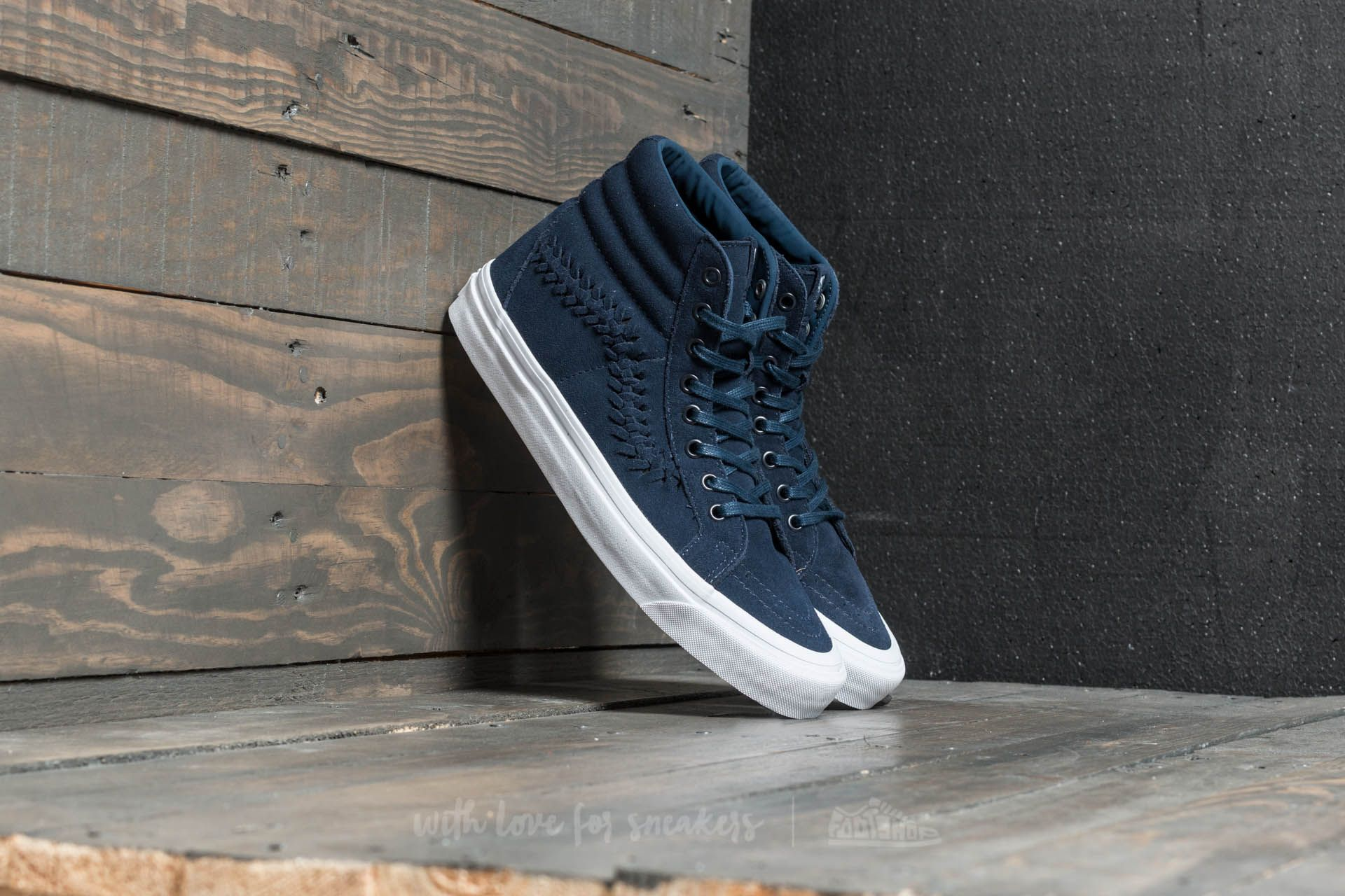 20cd59ef354f9a Vans SK8-Hi Weave DX (Suede) Dress Blues