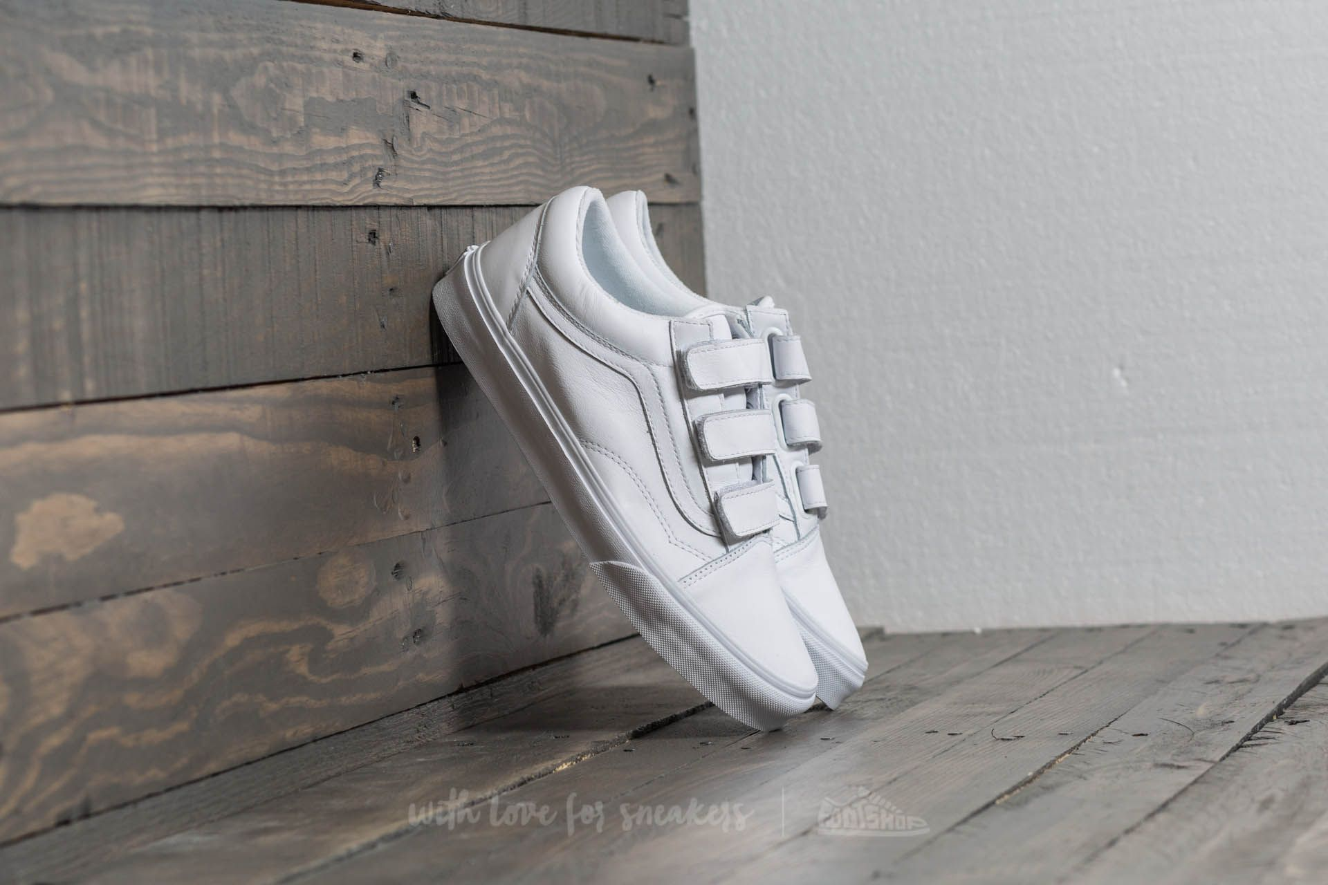 851001f69e Vans Old Skool V (Mono Leather) True White