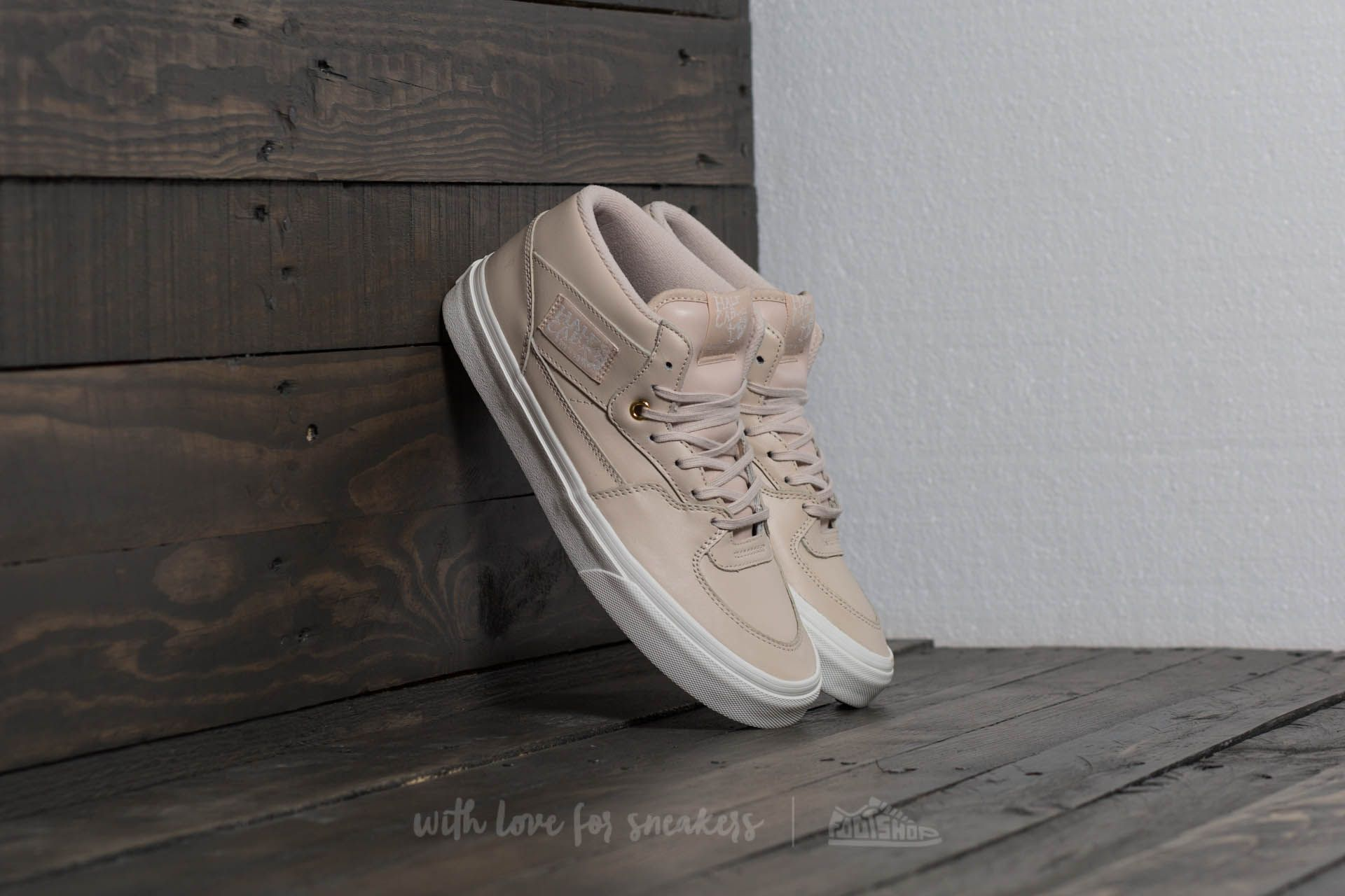 1d2949b2bda0 Vans Half Cab DX (Leather) Whisper Pink  Gold
