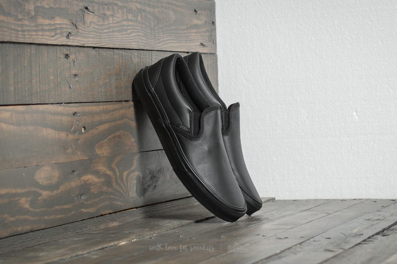 91261ccde711 Vans Classic Slip-On DX (Leather) Black  Mono