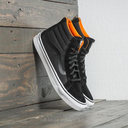 Vans SK8 Hi Slim Zip (Boom Boom) Black True White | Footshop