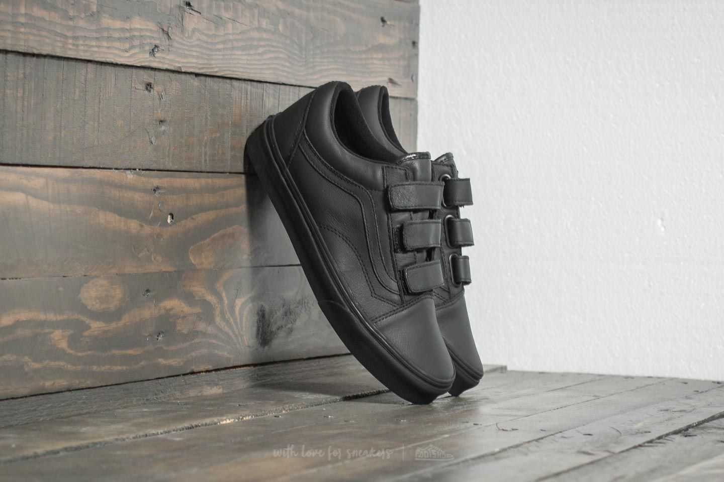 Vans Old Skool V (Mono Leather) Black