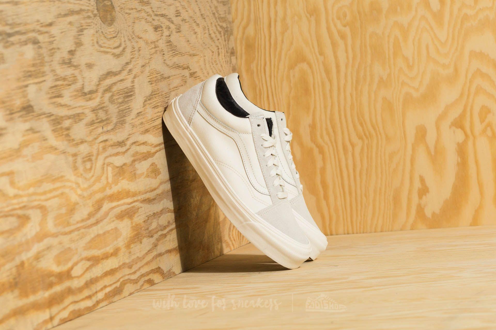 ded35f693d5d Vans OG Old Skool LX (Suede  Canvas) Blanc De Blanc
