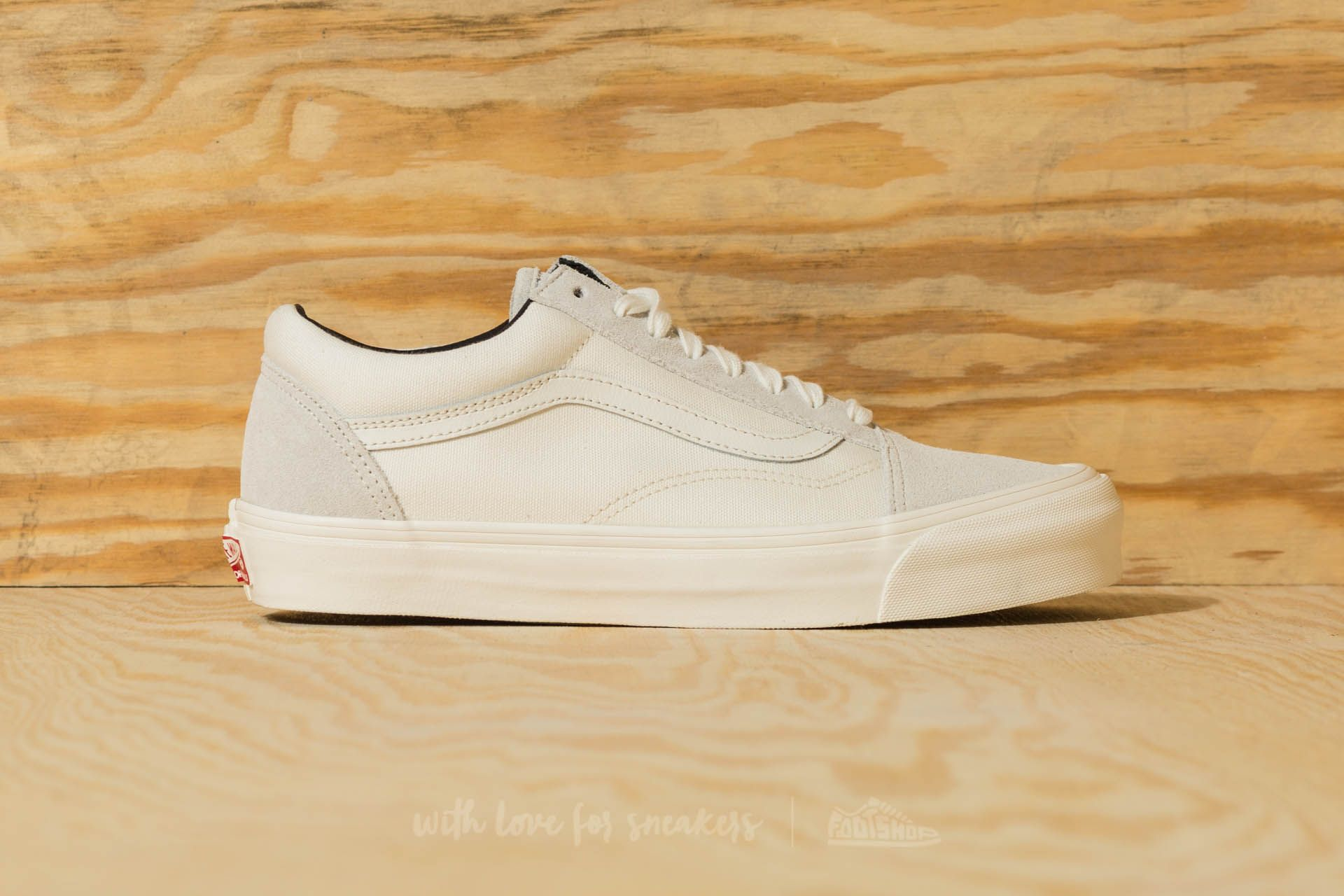 Vans OG Old Skool LX (Suede Canvas)Blanc De Blanc
