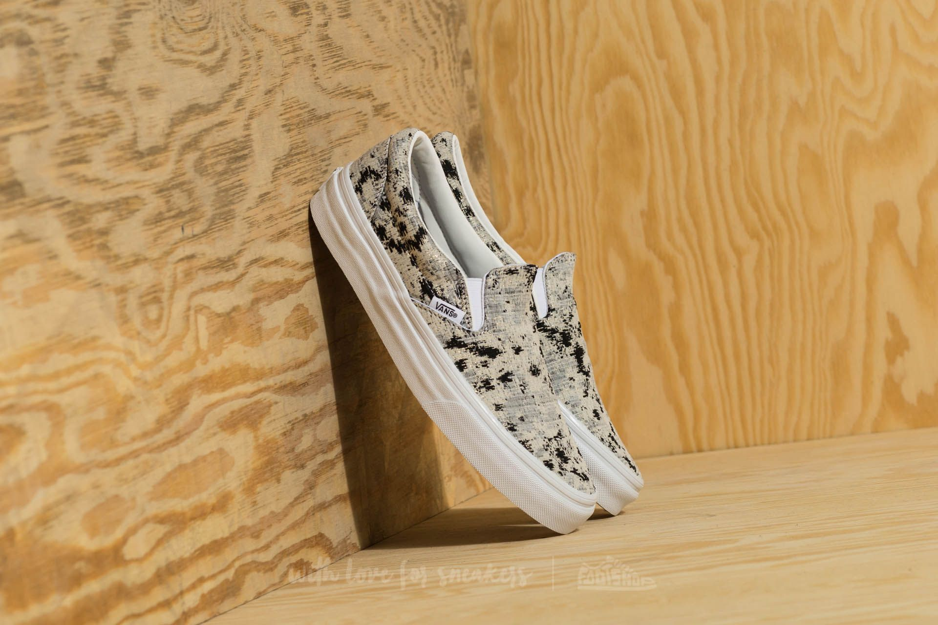 Vans Classic Slip-On (Italian Weave) Abstract/ True White