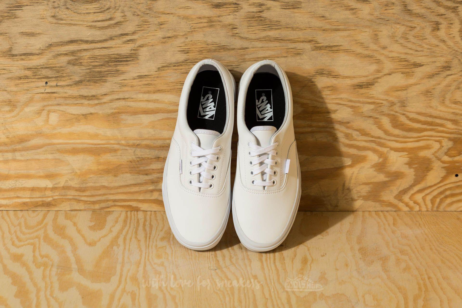vans classic tumble era true white