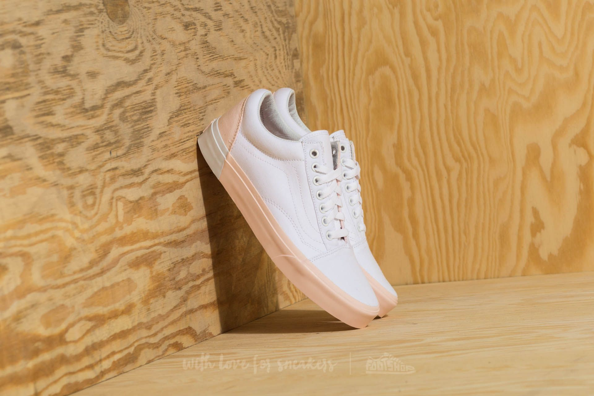 e1f9416f082c Vans Old Skool (Blocked) Pearl  True White